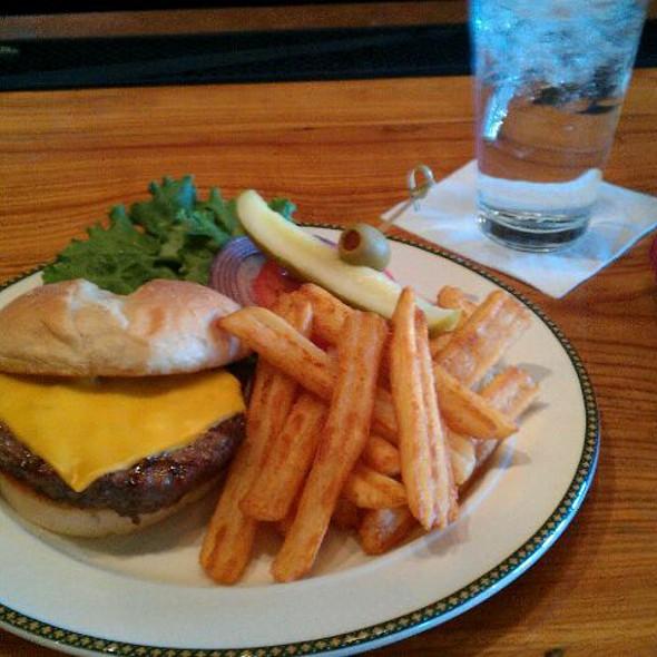 1/2 lb. black angus burger - Woodlands Restaurant at Eagle Ridge Resort & Spa, Galena, IL
