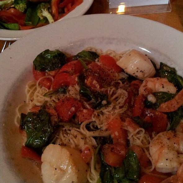 Scallop And Shrimp Over Pasta