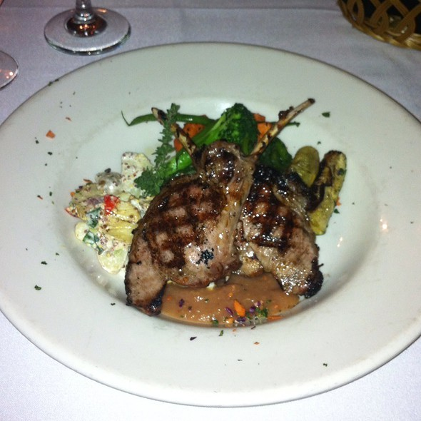 Wild Boar With Fingerling Potato Salad And Vegetables - The Gamekeeper, Boone, NC