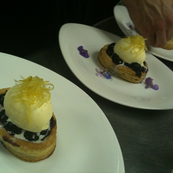 Blueberry Tart, Buttermilk Gelato,confit Lemon - The Observatory at Grouse Mountain, North Vancouver, BC