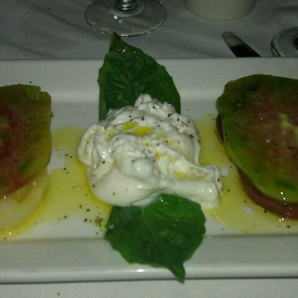 Heirloom Tomatoes And Buratta Cheese - Monty's Steakhouse, Woodland Hills, CA