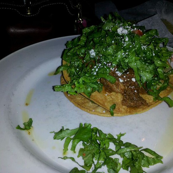 Shredded Pork Tostadas - Manuel's Great Hills, Austin, TX