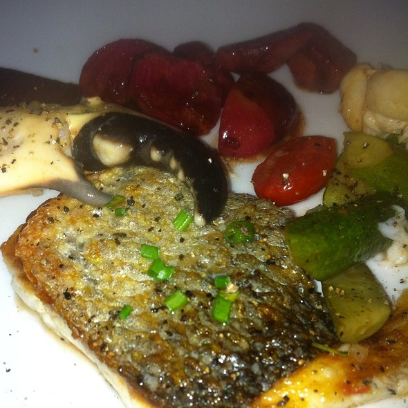 Wild Branzino With Sauteed Beets And Stone Crab  - Da Marco, Houston, TX