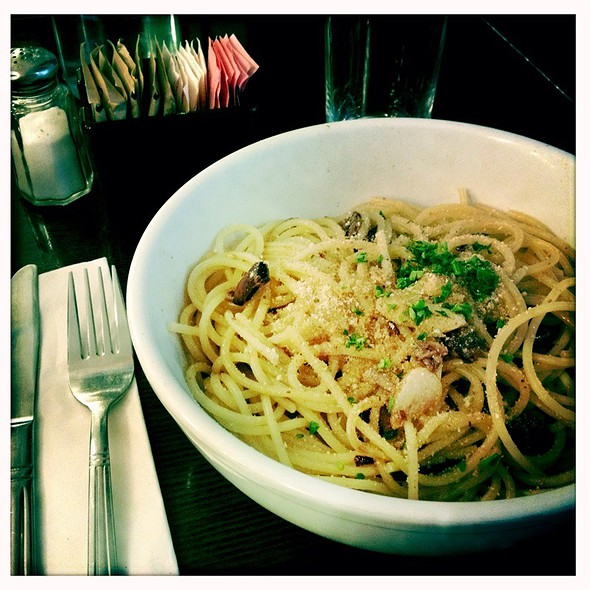 Spaghetti wth Anchovies and Olives - Fiat Cafe, New York, NY