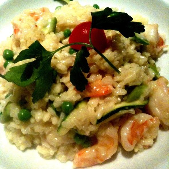 summer risotto with shrimp - Andiamo Ristorante, Austin, TX