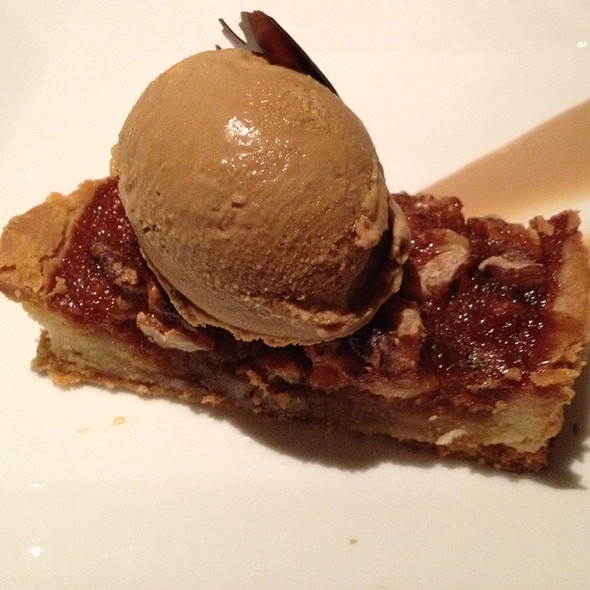 Pecan & Walnut Pie With Chicory Ice Cream - Harvest, Cambridge, MA