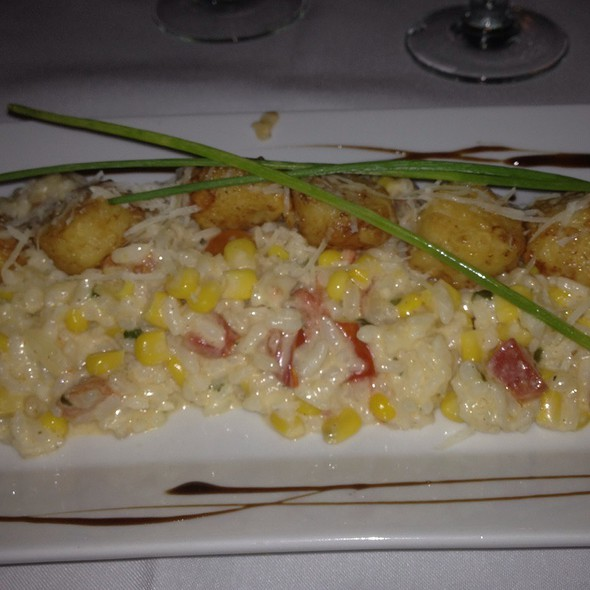 Scallops With Sweet Corn Risotto - Biagio's Osteria, Stratford, CT