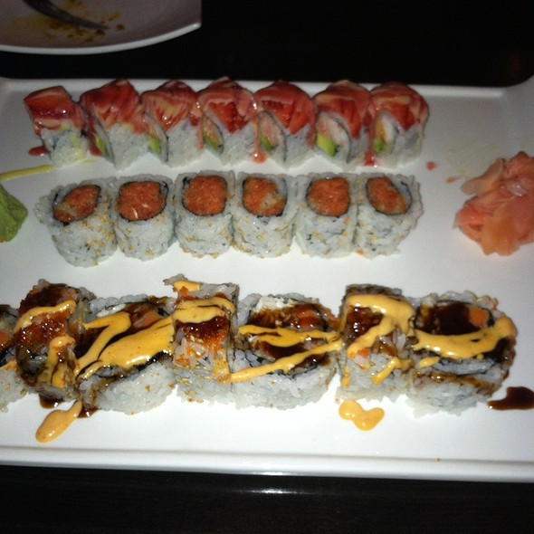 Summer Roll, Spicy Tuna Roll, And Spicy Seafood Roll - Ichiban Sushi Asian Bistro, Bowie, MD