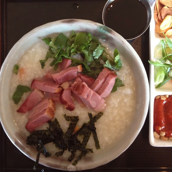 Jook With Smoked Duck - Samovar Tea Lounge - Mission/Castro, San Francisco, CA