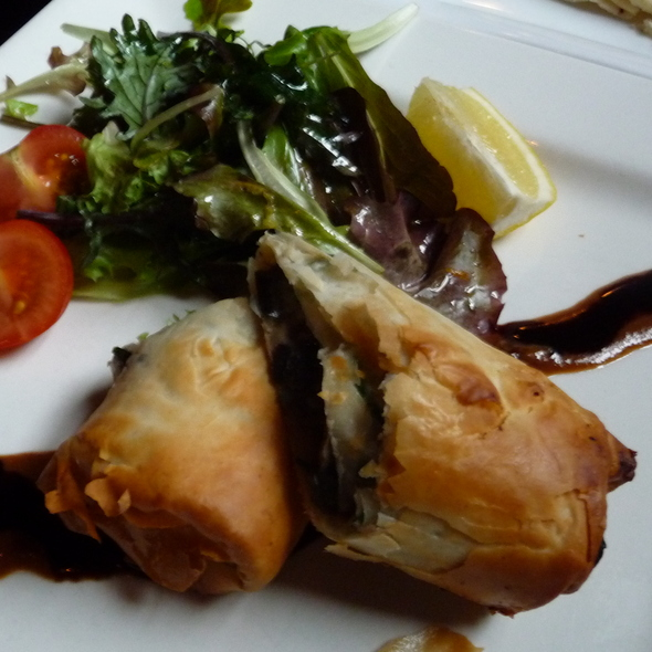 Mushroom & Goat Cheese Phyllo Roll - Claddagh Oyster House, Charlottetown, PE