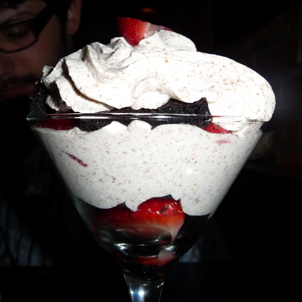 Strawberry Amaretto Brownie Trifle - Claddagh Oyster House, Charlottetown, PE