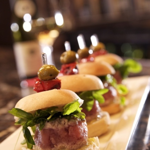 Mediterranean Tuna Sliders - WiseGuys Steak & Lounge, Hilton Head Island, SC