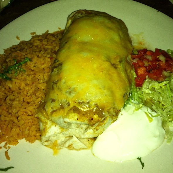 Shredded Chicken Burrito - Maria's Cantina, Woodland, CA
