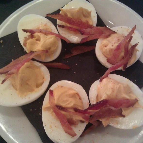 Deviled Eggs With Bacon And Chipotle Mayo - Bulldog Barbecue, North Miami, FL