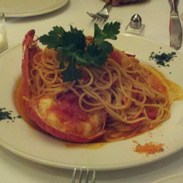 Spaghetti With Half Lobster - Serafina at The Time Hotel, New York, NY