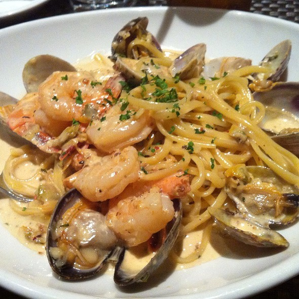 Clam & Shrimp Linguini In Cream Sauce - Di Napoli Ristorante & Pizzeria, South San Francisco, CA