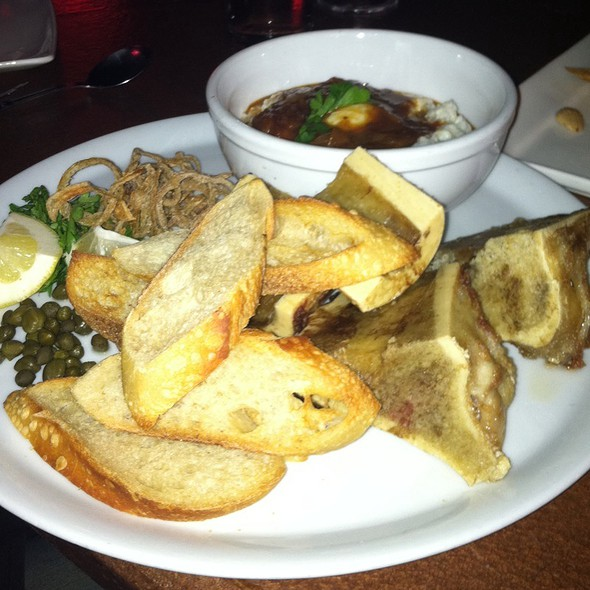 Bone Marrow And Grits With Quail Egg - The Admiral, Asheville, NC
