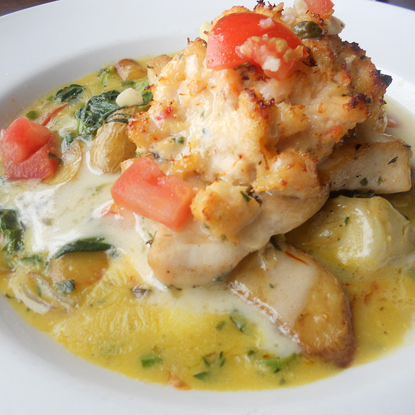 Crab and Shrimp Crusted Swordfish - Fish Hopper, Monterey, CA