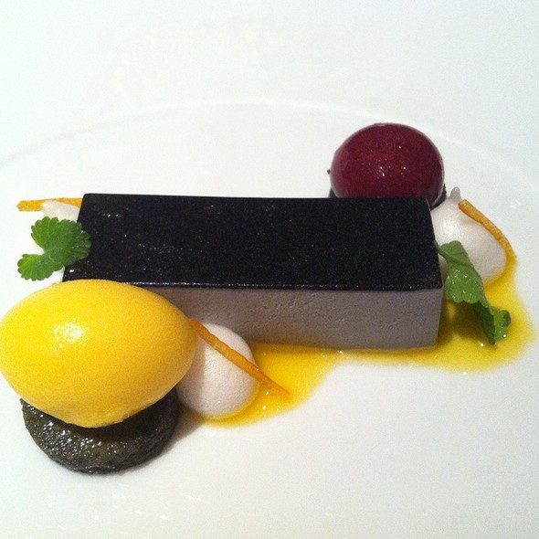Black Sesame Panna Cotta - Le Bernardin, New York, NY