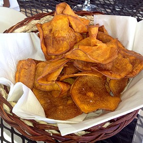 Sweet potato chips - Mikey's Grill, Birmingham, AL