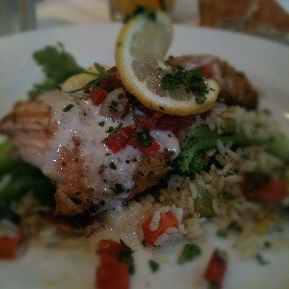 Herb-Crusted Salmon - Tarpy's Roadhouse, Monterey, CA
