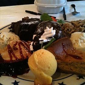 Mixed Dessert Platter - Tarpy's Roadhouse, Monterey, CA