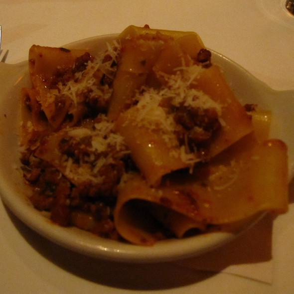 Wild Boar Papardelle - Toscano Restaurant, Boston, MA