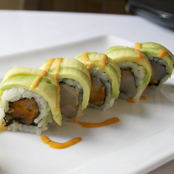 Crunchy scallop sushi roll - The Sea Grill, New York, NY