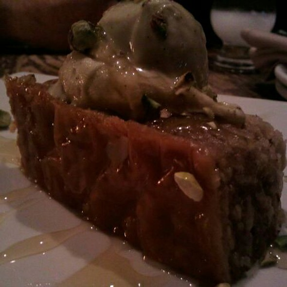 Baklava With Pistachio Ice Cream - Cava Mezze - DC, Washington, DC