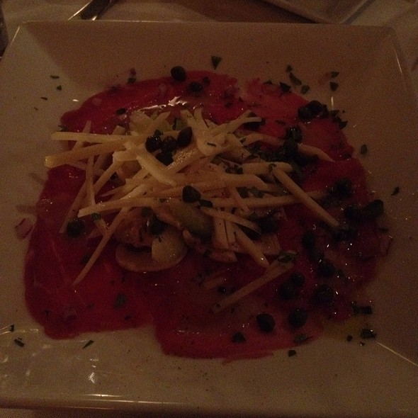 Carpaccio Di Carne - Panache Restaurant, Washington, DC