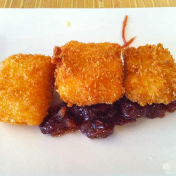 Fried Mac & Cheese With Lobster And White Truffle Over Dried Cherry Chutney - Ray's Grill, Fulshear, TX