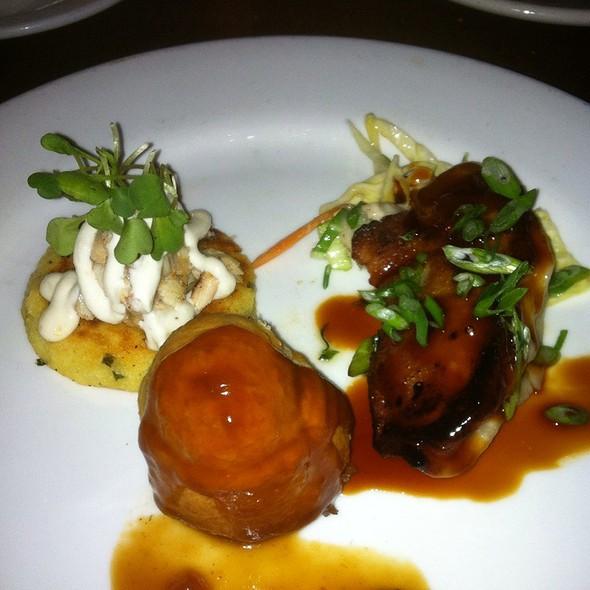 The Trio: Smoked Trout, Beef Wellington, Shrimp Dumpling - Herbie's, St. Louis, MO