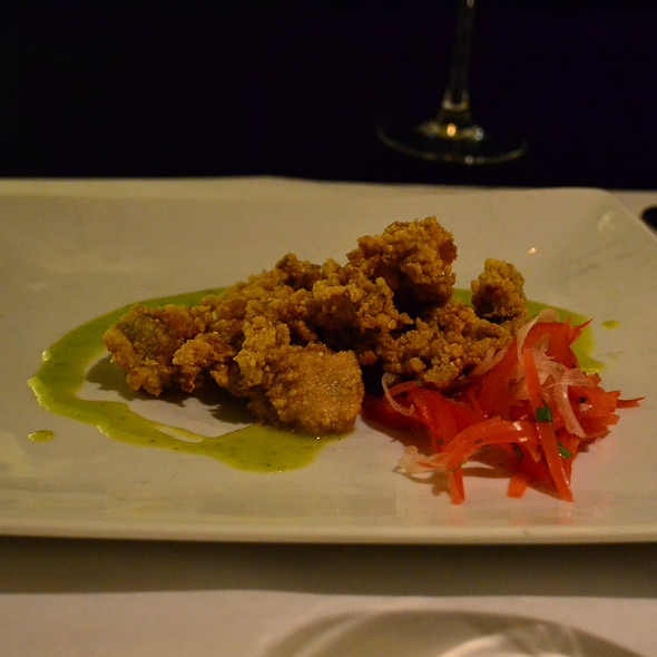 fried oysters - Fat Canary, Williamsburg, VA