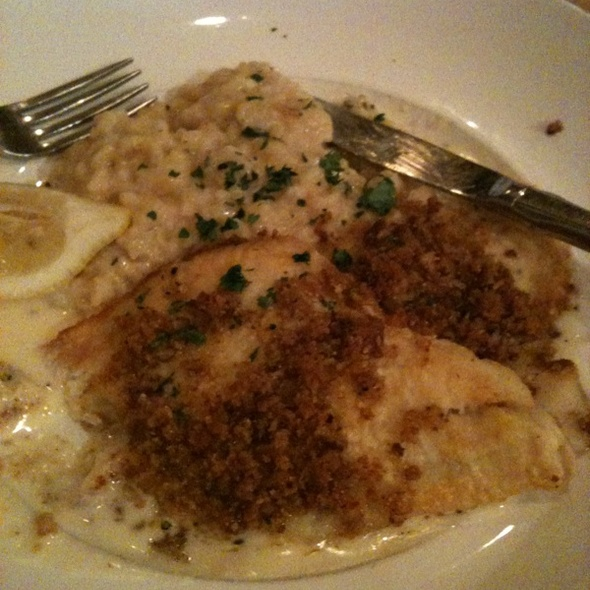 Pan Seared Sole With Risotto - De La Torre's Trattoria, Pleasanton, CA