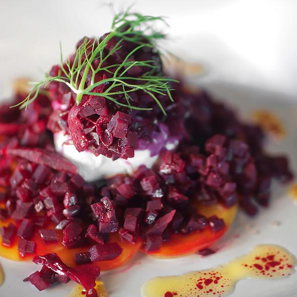 Beet Carpaccio Salad - Back Bistro, Folsom, CA