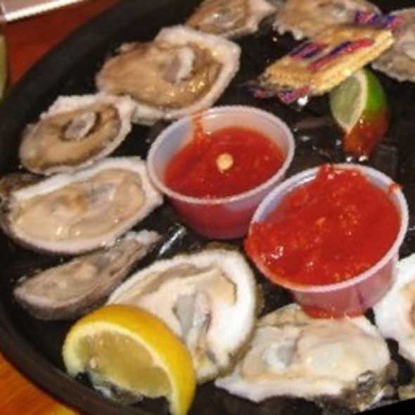 raw oysters - Monty's Sunset, Miami Beach, FL