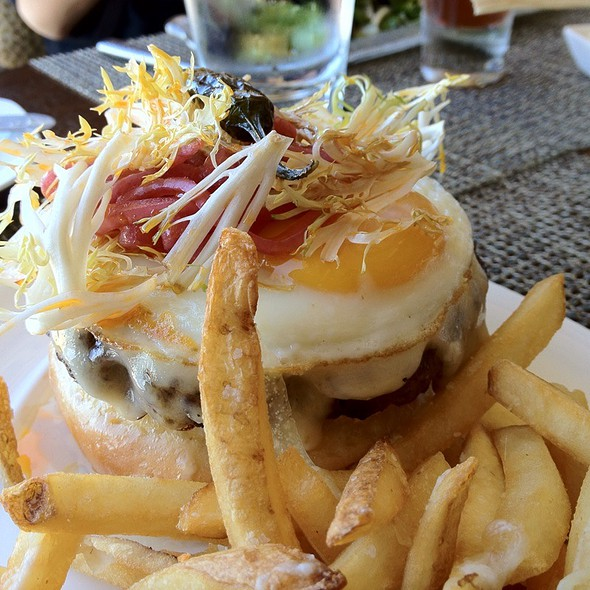 Open Face Wagyu Burger With Truffle Fries - RAYA at The Ritz-Carlton, Laguna Niguel, Dana Point, CA