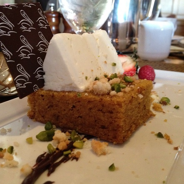 Spiced Pumpkin Crumble Cake - Coliseum Pool & Grill - The Resort at Pelican Hill, Newport Coast, CA