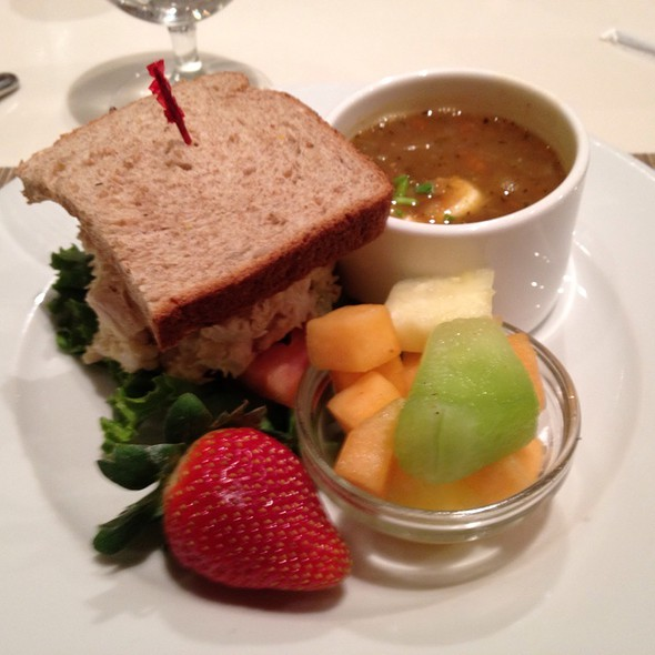 Lentil Soup And Chicken Salad Sandwich - NM Cafe at Neiman Marcus - Atlanta, Atlanta, GA