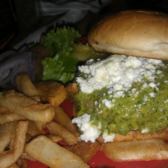Aegean Stuffed Burger - SanTan Brewing Co - Downtown Chandler BrewPub, Chandler, AZ