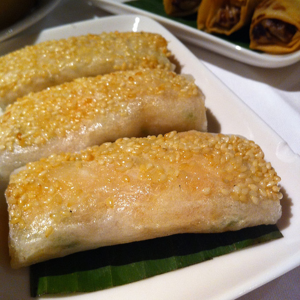 Prawns wrapped in rice paper - Pearl Liang, London