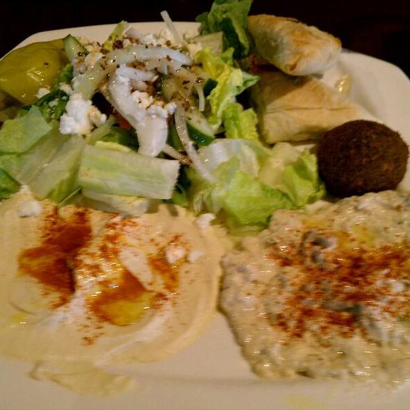 Vegetarian Platter - Falafel, Tabouli, Baba Ganoush - Ansari's Mediterranean Grill, Eagan, MN