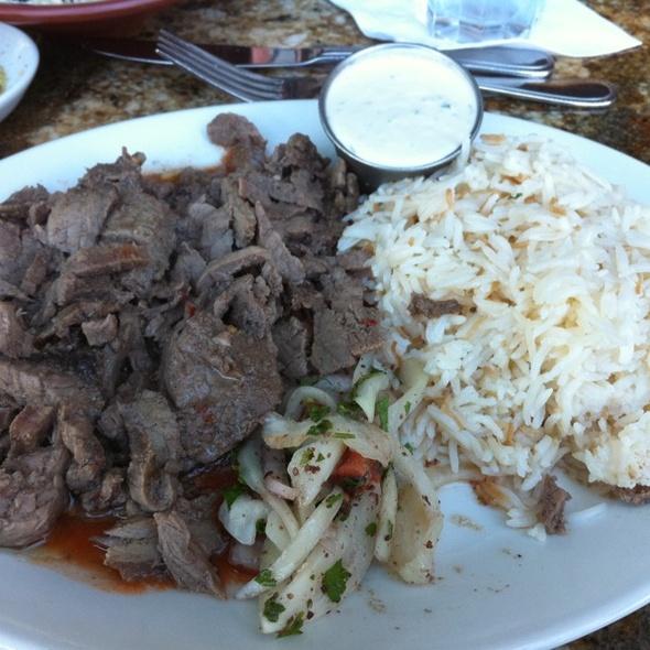 Beef Shawarma Platter - Lebanese Taverna - Westover, Arlington, VA