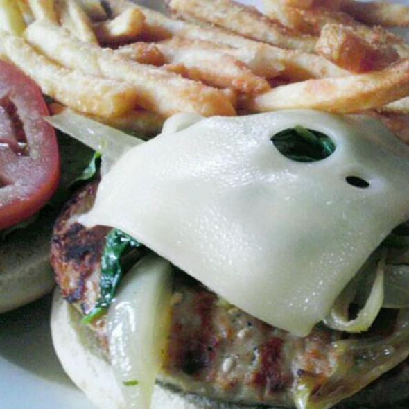 Turkey Florentine Burger - Nellie's Sports Bar, Washington, DC