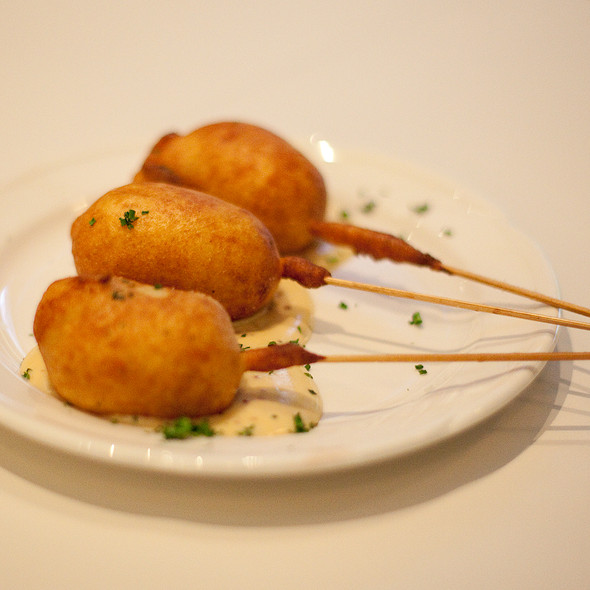 Lobster Corn Dogs - Charlie Palmer Steak Las Vegas, Las Vegas, NV