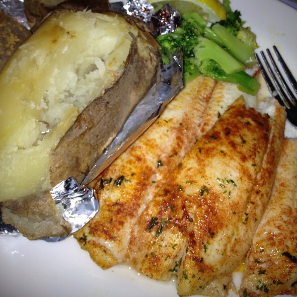 Broiled Filet Of Flounder - DiNardo's Famous Seafood, Philadelphia, PA