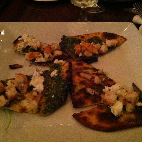 Shrimp And Goat Cheese Flatbread - Gossip Restaurant, New York, NY