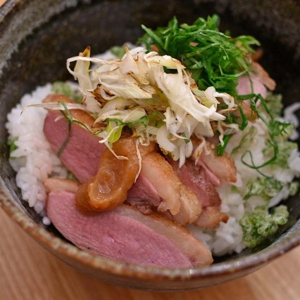 鴨ネギ梅しそ丼 - なるたけ, 新宿区, 東京都