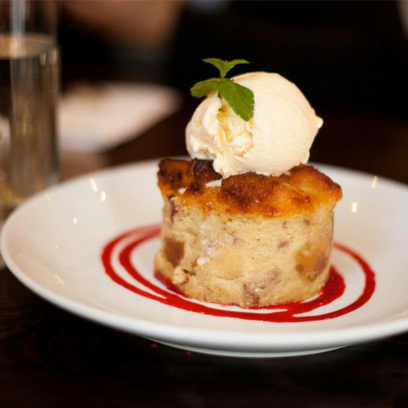 White Chocolate Raspberry Bread Pudding - Cafeteria, New York, NY