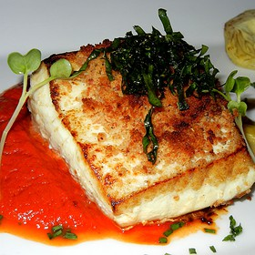 Soft Seared Halibut - Crow's Nest - Hotel Captain Cook, Anchorage, AK